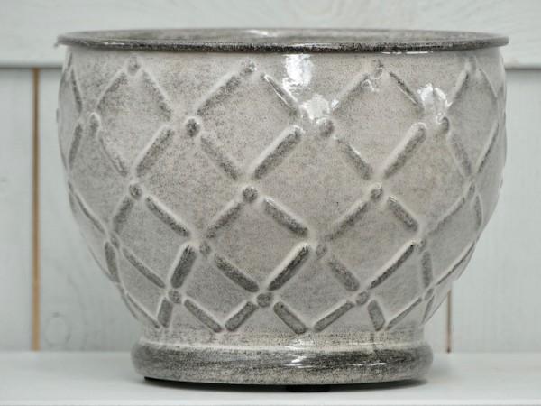 Steel Pot Sparrow weiß-grau 20 cm