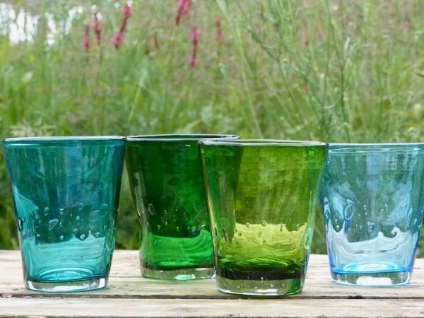 Italienische Gläser 'Frühlingsgrün'