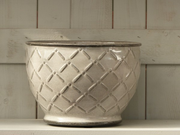 Steel Pot Sparrow 26 cm weiß-grau