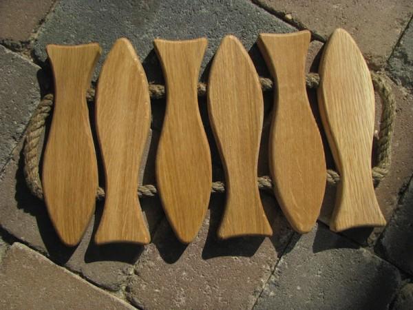 Holzuntersetzer 6 Fische