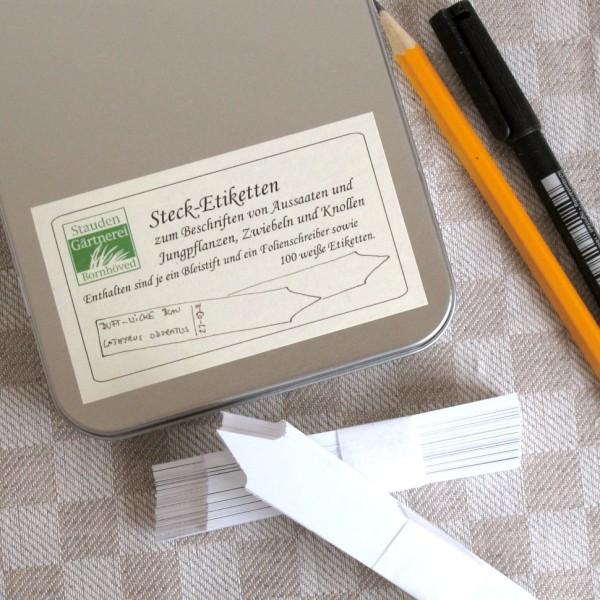 Stecketiketten-Set Weiß
