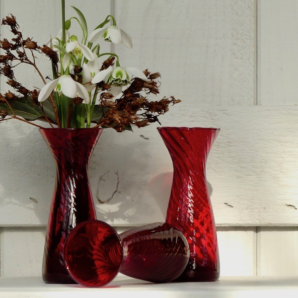 Krokusgläser in rot