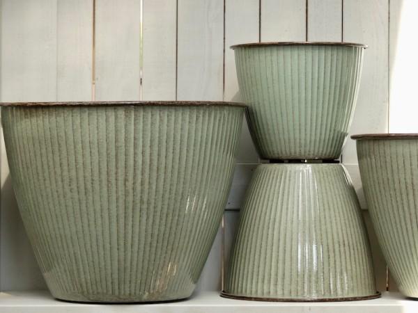 Steel Pot Vintage grün