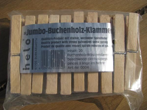 Jumbo-Buchenholz-Klammern