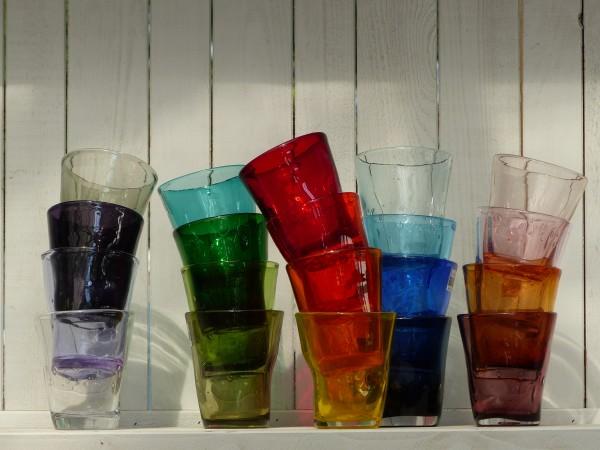 Italienische Gläser - 20 verschiedene Farben